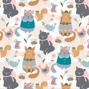Dressed Up Fancy Cats