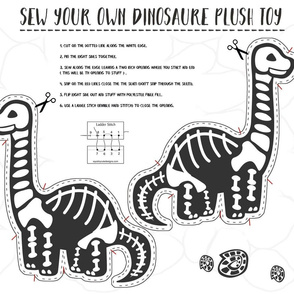 Sew Your Own Dinosaure