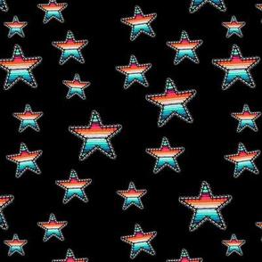 Serape and Stars Black