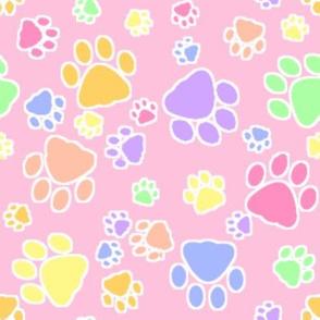 Spring Easter Pastel Bright Cat Kitten Paw