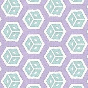 Triangle Blocks: Purple and Aqua