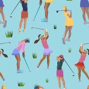 Golf Girls - blue - medium