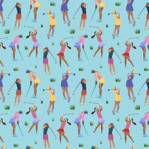 Golf Girls - blue - tiny