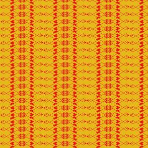 XSm Red Bird on Yellow by DulciArt,LLC