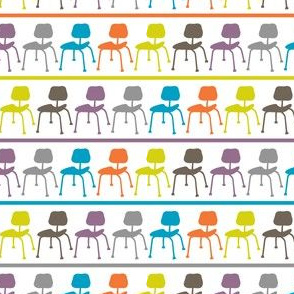 Retro Chairs - stripe