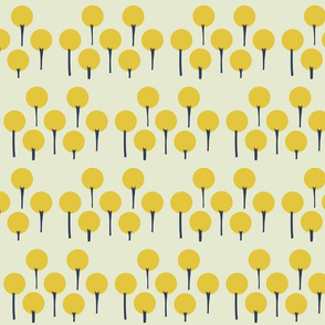 Yellow Pop Trees - Small