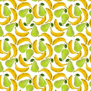 Bananas and pears white