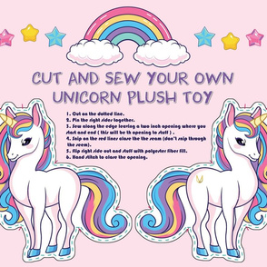 Cut and Sew Unicorn