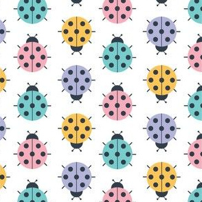 Colorful Geometric Lady Bug Polka Dots Medium
