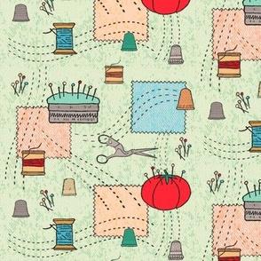 Sweet vintage sewing