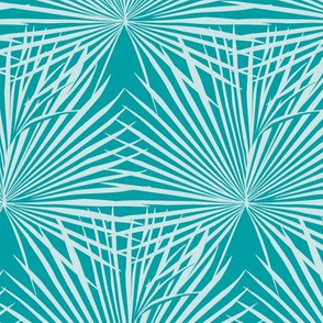 Palm leaves / Turquoise