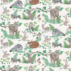 Woodland Creatures Oatmeal Forest