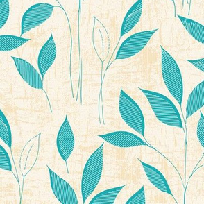 Leaves-cream and blue-nanditasingh
