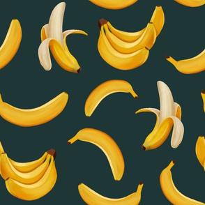 Bananas on dark