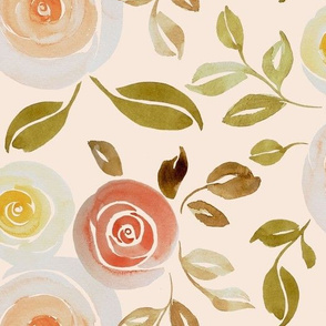 orchard roses beige