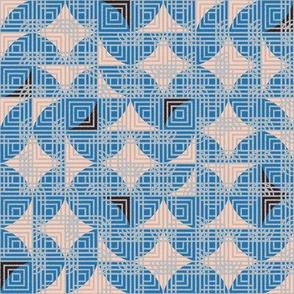 Geometric  Blue sc