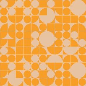 Small Scale - Groovy 70s Orange Geo