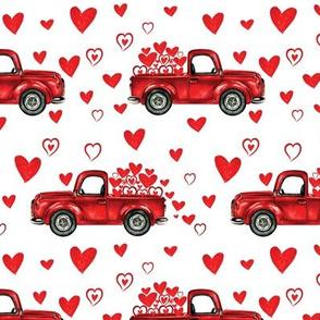 White valentine trucks