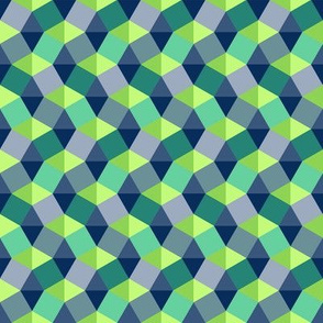 Geometric Greens and Blues small