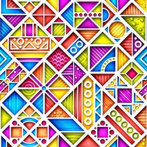9 inch 3d funny geometry g1_1v-1