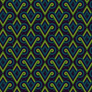 Deep Jungle Diamond Spirals by Cheerful Madness!!