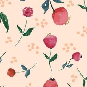 Watercolour Garden Peach