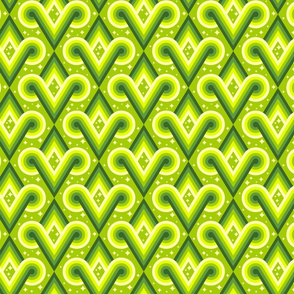 Light Chartreuse Diamond Spirals by Cheerful Madness!!