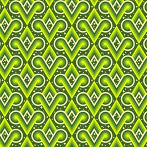 Dark Chartreuse Diamond Spirals by Cheerful Madness!!