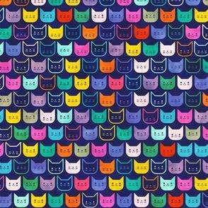 Rainbow Cats- Cat Faces- Pet Shop- Pets Galore- Vet- Veterinarian- Small Scale- Face Mask