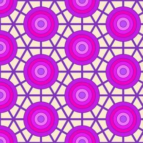 Bullseye lattice - purple