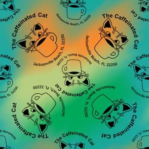 The Caffeinated Cat Rescue Kitten Logo Repeat