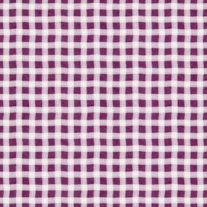 Mulberry Texture Wonky Gingham