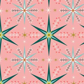 geometric Christmas snowflakes