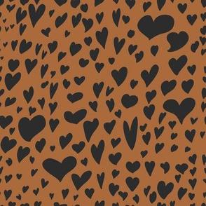 Hearts Leopard Pattern