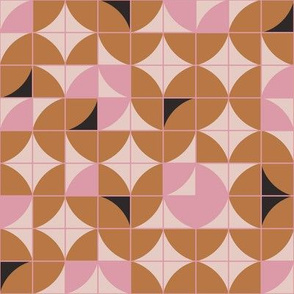 Geomeric Terracotta/Pink