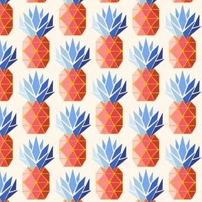 geometric pineapple/peach blue/small