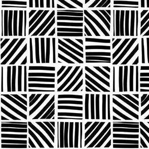 Block stripes - black and white