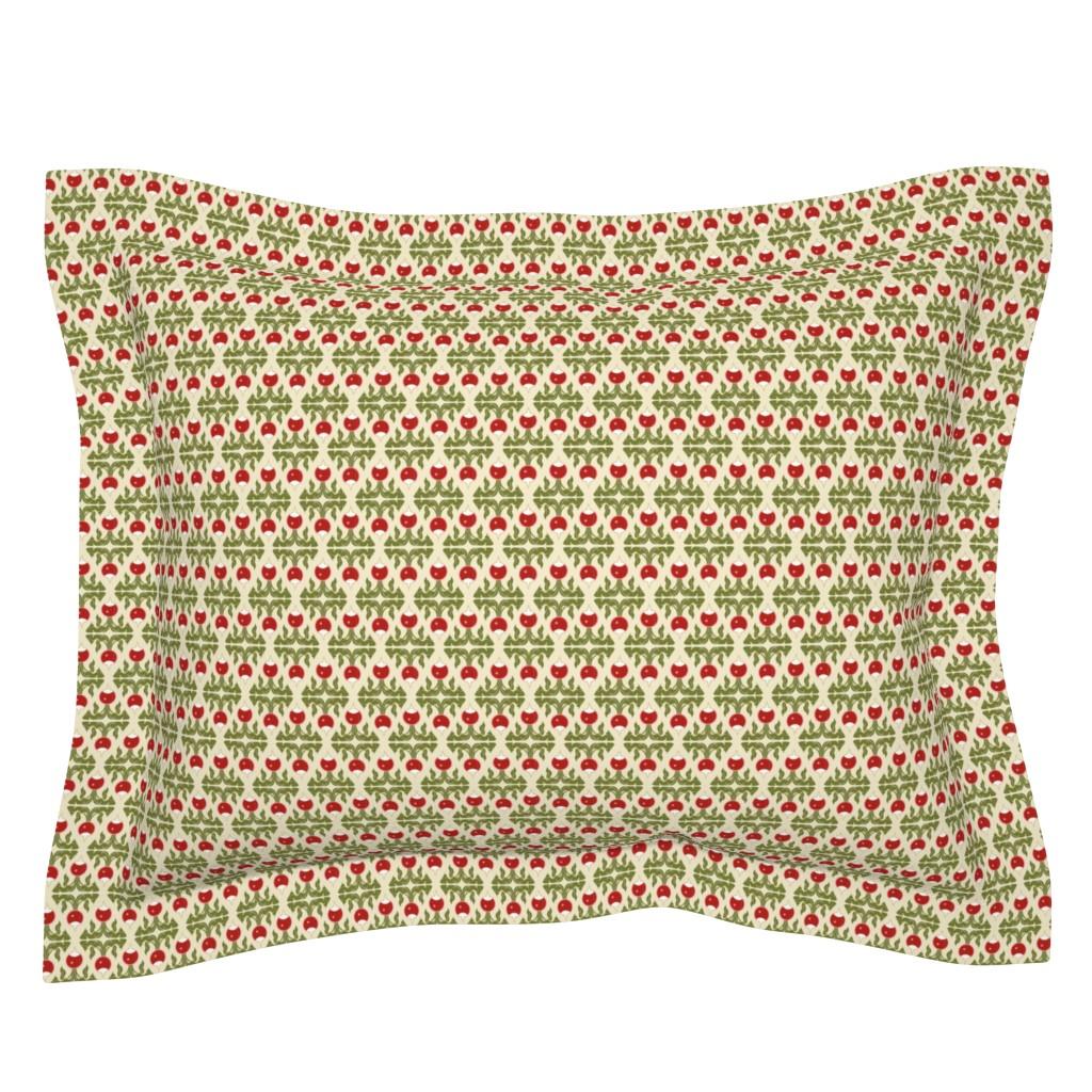 Sebright Pillow Sham featuring Radish red diamond by cindylindgren