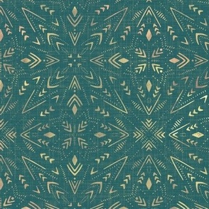 small scale - mystical space universe - seaside teal
