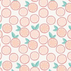 Summer boho citrus garden little lime and orange slices minimal fruit design tangerine mint SMALL