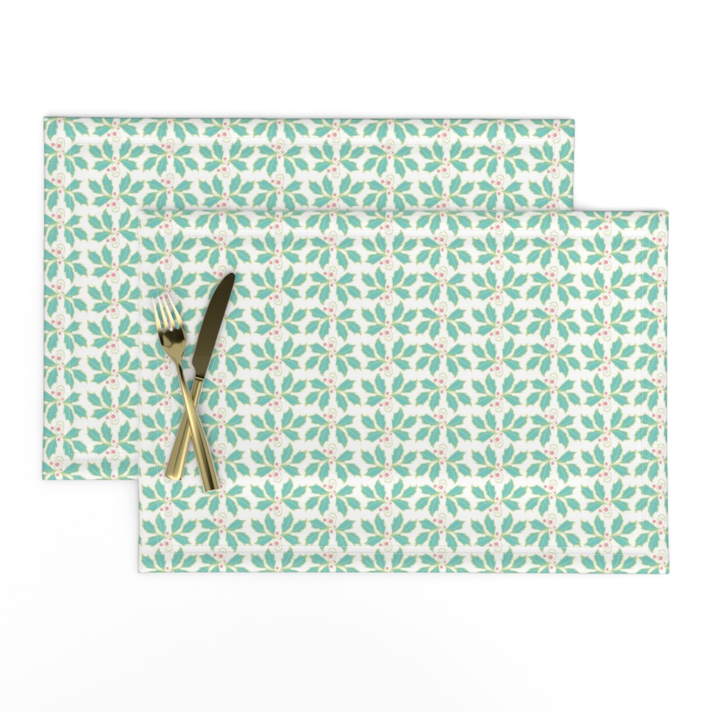 Lamona Cloth Placemats featuring Holly by cindylindgren