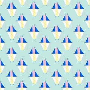 Small Geometric Kites on Robins Egg Blue