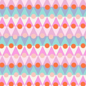 bunting circles small scale pink by Pippa Shaw