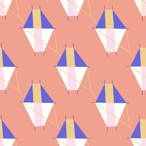 Medium Geometric Kites on Pink