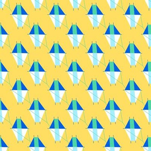 Small Geometric Kites on Yellow