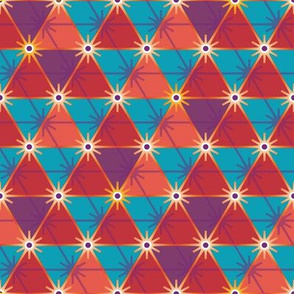 Starbursts and triangles