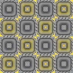 mini tiles geometric illuminating yellow ultimate grey pantone 2021 PSMGE