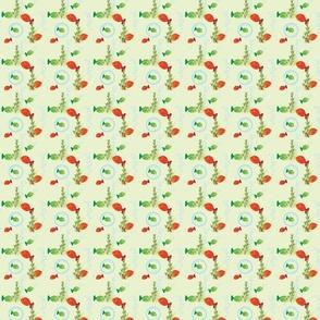 Hibiscus Sea Turtle Fish - small print