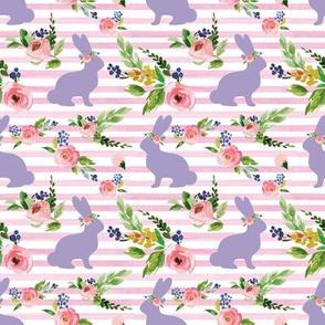 Pink Stripe Bunnies