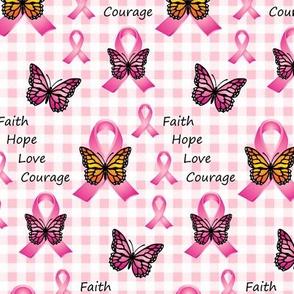 Pink Ribbons Butterflies on Gingham 2020-01-05 v1b-03 tile